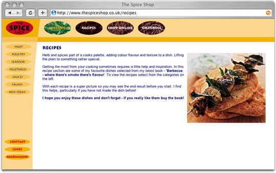 The Spice Shop website